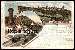 ALTE POSTKARTE GRUSS VOM KAHLENBERGE KAHLENBERG WIEN DÖBLING Dampflok Locomotive à Vapeur Steam Train Railway Cpa AK - Eisenbahnen