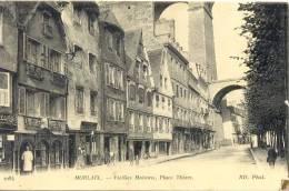 CPA MORLAIX - VIEILLES MAISONS - PLACE THIERS - Morlaix