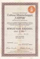 NEDERLAND  --  CULTUUR - MAATSCHAPPIJ  ,,  TJEPPER ,,  -  1936 - Ohne Zuordnung