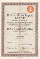 NEDERLAND  --  CULTUUR - MAATSCHAPPIJ  ,,  TJEPPER ,,  -  1936 - Hist. Wertpapiere - Nonvaleurs