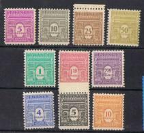 FR6 - FRANCE N° 620/629 Neufs**/* Arc De Triomphe 1ere Série 1944