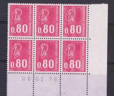 FR8 - FRANCE N° 1816 Marianne De Béquet En Bloc De 6 Bdf Coin Daté - France