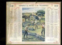 Calendrier 1918 Jeunes écoliers Chargeant La Luzerne - Calendriers