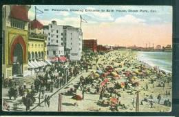 Panorama Showing Entrance To BATH House , Ocean Park, Cal.   Ug80 - Long Beach