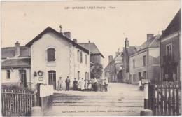 Cpa  Rouessé-Vassé.  Gare. ( 2 Scans ) - France