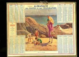 Calendrier 1929 Sur La Plage - Calendriers