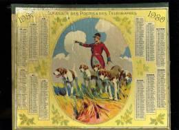 Calendrier 1930 Double Cartonnage, Chasse à Courre, 68 Pages - Calendars