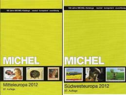 MlCHEL Mittel-/Südwest-Europa 2012/2013 Stamp Katalog Neu 116€ Band 1+2 A CH CSR HU FL Slowakei UNO E F P Monaco Andorra - Encyclopédies