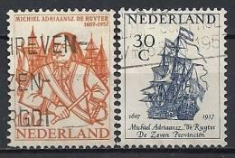 "Nederland 1957   , "" Admiral De Ruyter "" ;   Mi. 697-98  Gestemp. / Used / Oblitaire (nov17) - Period 1949-1980 (Juliana)"