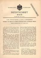 Original Patentschrift - C.G. Patrik De Laval In Stockholm , 1890 , Apparat Zum Erhitzen Von Metall , Eisen , Hochofen ! - Historische Dokumente