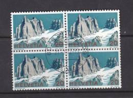 1972    N°516  BLOC DE 4 OBLITERES     CATALOGUE  ZUMSTEIN - Suisse