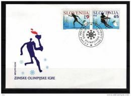 Slovenia Slovenie Slowenien  Mi. 76-77 1994 Olympic Games Lillehammer FDC - Winter 1994: Lillehammer