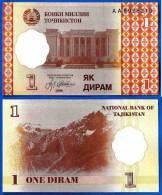 Tadjikistan 1 Diram 1999 Prefix AA Neuf UNC Ruble Tajikistan Skrill Paypal OK - Tajikistan