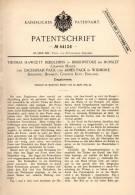 Original Patentschrift - T. Middlemiss In Bishopstoke B. Hursley , Hants , 1889 , Ziegelpresse , Ziegel , Presse !!! - Tools