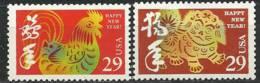 USA. Nouvel An Chinois. Annees Du Chien Et Du Coq  . 2 T-p Neufs ** - Nouvel An Chinois