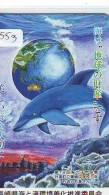 Télécarte Japon MAP * Carte Du Monde * GLOBE (553) Géographie * Mappemonde * Japan Phonecard * TELEFONKARTE * 110-016 - Espacio
