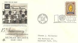 Lettre    ONU   New York 1963 (13) - New-York - Siège De L'ONU