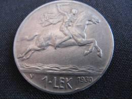 Coin 1 Lek Albania(Shqipni) 1930 Alexander The Great - Albania