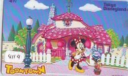Télécarte JAPON DISNEY (4114) 110-175864 - Série TOONTOWN Minnie - Japan Phonecard Telefonkarte - Disney