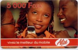 Télécarte Jeune Fille 5000 Francs CFA - Other - Africa