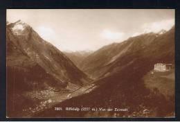 RB 904 - 1925 Real Photo Postcard - Rifflelalp & Vue Sur Zermatt Switzerland - 20c Rate To UK Super Zermatt Postmark - VS Valais