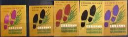 Set 5 Matchbox Labels - Poland 1969 - Protect Coastal Vegetation - Matchbox Labels
