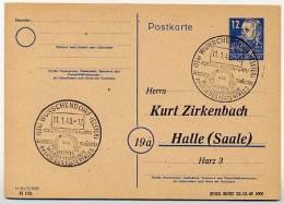Sost. Torbogen Kloster WÜNSCHENDORF 1949 Auf Postkarte  SBZ  P36/01 ZB/01 Zudruck ZIRKENBACH  Kat. 5,00 € - Klöster