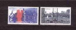 DENMARK 1986 NORDEN 86 Twin Cities Michel Cat N° 868/69  Mint No Gum - Unclassified