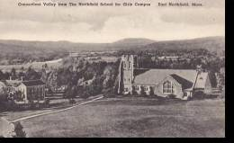 Massachusetts East Northfield Connecticut Valley From The Northfield School For Girls Campus Albertype - Unclassified