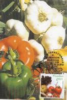 Romania Maxi Card / Pepper And Garlic - Vegetables