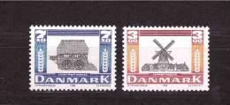 DENMARK 1988 Windmills Michel Cat N° 930/31  Mint No Gum - Windmills