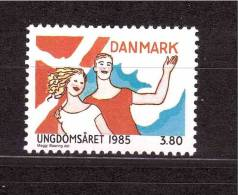 DENMARK 1985 International Year Of The Youth Michel Cat N° 834  Mint No Gum - Unclassified