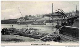 77-MONTEREAU-Les Tuileries (Péniches).1905 - Montereau