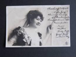 Schönheit Echt Foto 23.4.1904 Gelaufen - Pin-Ups