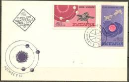 Space. Bulgaria 1967 .Cosmos 186, Cosmos 188, Venus 4. FDC. - Europa