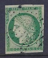 France, Scott # 2 Used Ceres, 1849, CV$900.00, 3 Nice Margins - 1849-1850 Ceres