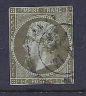 France, Scott # 12a Used Napoleon III, CV$95.00, Close Margins, No Defects - 1853-1860 Napoleon III
