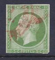 France, Scott # 13 Used Napoleon III, CV$85.00, Close Margins, No Defects, Except The Corner - 1853-1860 Napoleon III