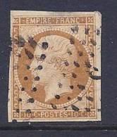 France, Scott # 14c Used Napoleon III, Type II, CV$22.50, Very Nice Margins, Defects - 1853-1860 Napoleon III