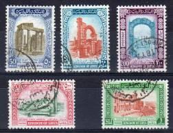 24.12.1965, Monuments Touristique, Y&T No. 277 - 281  / Michel-No.  200 - 204, Oblitéré, Lot 37332 - Libië