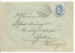 1907 25Rp Stehende Helvetia Brief Von Bern Nach Gotha - 1882-1906 Armoiries, Helvetia Debout & UPU