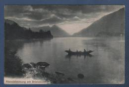 BE BERN - CP ANIMEE ABENDSTIMMUNG AM BRIENZERSEE - PHOTOGRAPHIE R. GABLER INTERLAKEN N°8392 - CIRCULEE EN 1913 - BE Berne