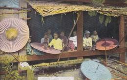 ASIE----BURMA-----Umbrella Makers In Burma--voir 2 Scans - Myanmar (Burma)