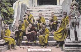 ASIE---BURMA---Burmese Buddist Priests--voir 2 Scans - Myanmar (Burma)