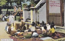 ASIE-----BRUMA   ?----Boys At Study--voir 2 Scans - Myanmar (Burma)