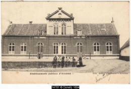 14781g ECOLE COMMUNALE - JUSTICE DE PAIX - Etablissements Publics - Avennes - 1903 - Braives