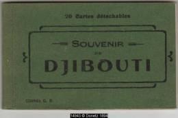 14943g DJIBOUTI - Résidence Du Gouverneur - Quais De Douane - Place Ménélik - Rue Ras Makonen - Carnet 20 Cartes Complet - Djibouti
