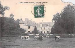 LENCLOITRE. Château D'Abains. (Coin Manquant Cf Scan) - Lencloitre