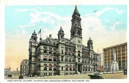 Baltimore.post Office, Calvert ,Fayette And Lexington Streets. - Baltimore