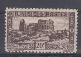 Tunesie: Yvert 180  MH/*, Maury CV € 80, Right Top Has One Smaal Brown Spot On Back - Tunisie (1888-1955)